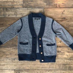 Rag & Bone cashmere cropped shrunken sweater cardi